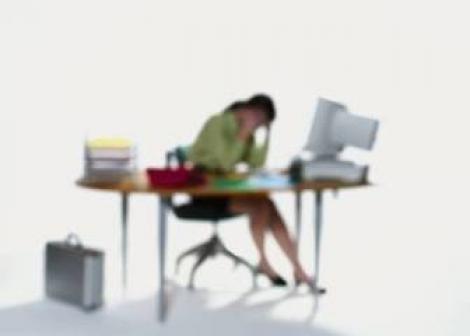 lazy offfice worker